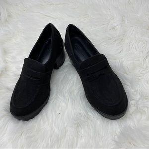 ASOS Black Chunk Heel Slip on Shoes